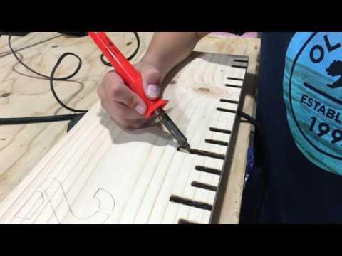 Making A Wood Burned Growth Chart Ruler