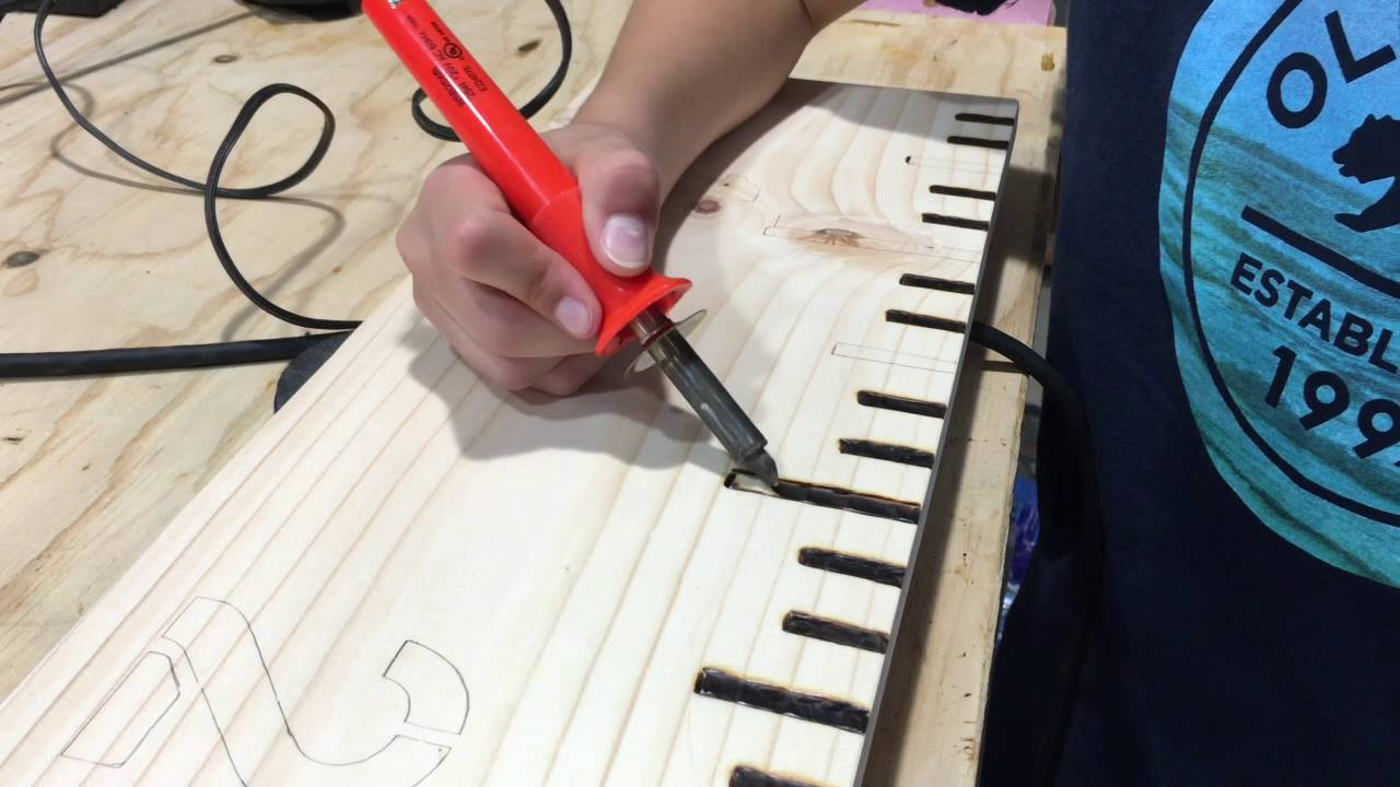 Making a wood burned growth chart ruler youtube geenschuldenfo Choice Image