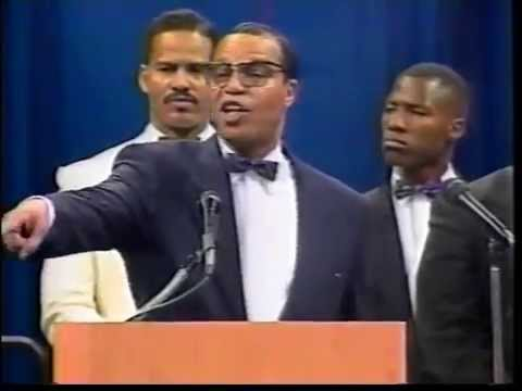 The Hon. Louis Farrakhan; Let us make man, Atlanta, Ga