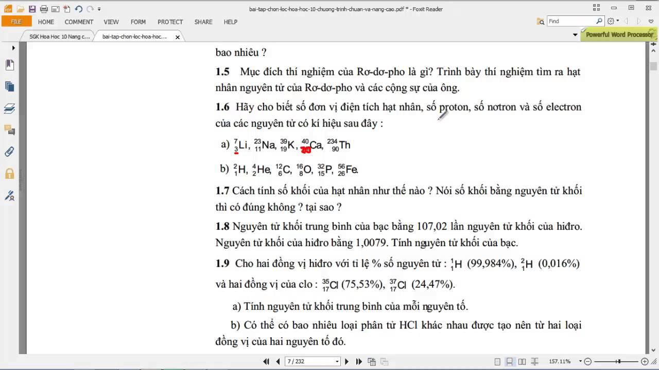 [HÓA HỌC 10] Chương 1 – [ÔN – BÀI TẬP] BT 6 Xác định proton, notron, electron