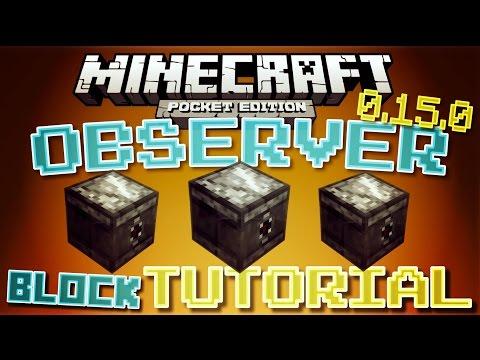 ✔️Minecraft PE 0.15.0 - OBSERVER BLOCK TUTORIAL // How To Use The Observer Block! [MCPE 0.15.0]