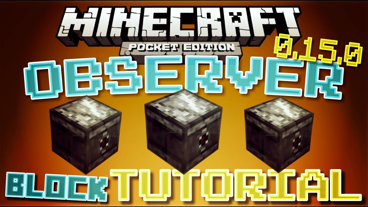 Minecraft pe 0150 observer block tutorial how to use minecraft pe 0150 observer block tutorial how to use the observer block mcpe 0150 youtube baditri Image collections