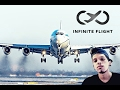 Infinite Flight Pousando A319 QATAR