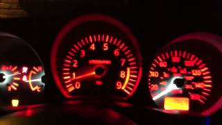350z custom gauges red LEDs GaugeCraft