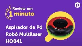 Imagem do prévia do vídeo: Aspirador Robô Multilaser HO041 - Análise   REVIEW EM 1 MINUTO - ZOOM