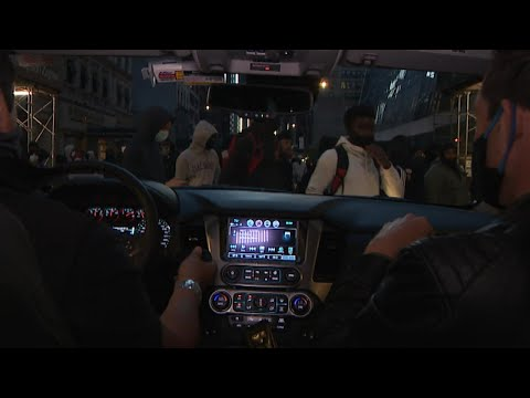 What New York City Protests Look Like From Inside a Car