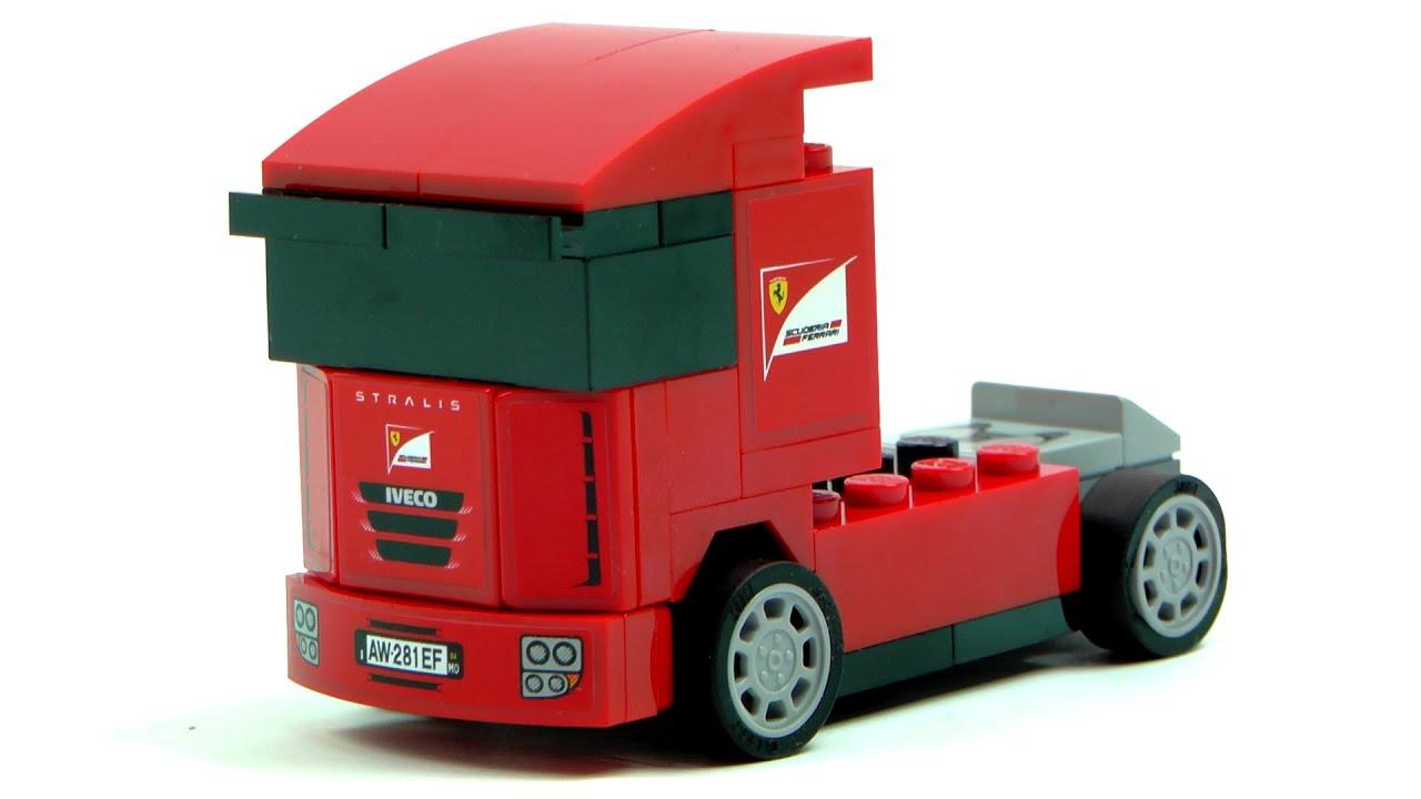 lego racers 30191 scuderia ferrari truck speed build and. Black Bedroom Furniture Sets. Home Design Ideas