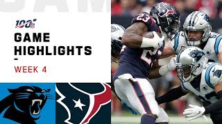 Panthers vs. Texans Week 4 Highlights | NFL 2019