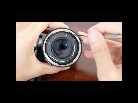 Changing aperture of FD canon lens tutorial
