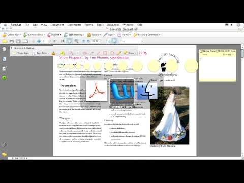 Adobe Acrobat 8 Collaborate: Commenting Adding a Comment Using Sticky Notes