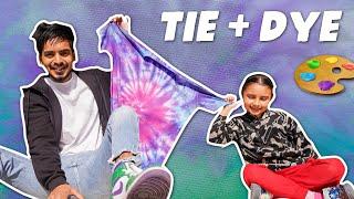 We tried TIE-DYE & did tabahi 🎨🙌 |ARSHFAM