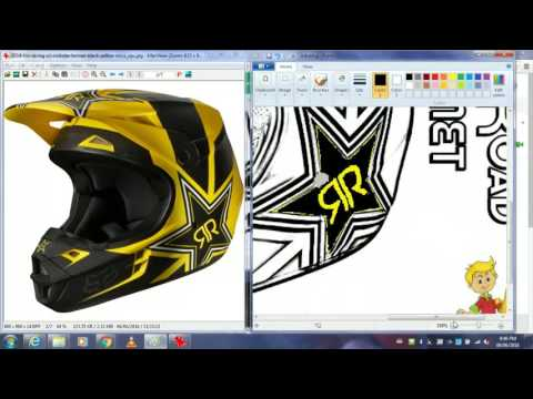 FOX/ROCKSTAR ENERGY MOTOCROSS HELMET DRAWING