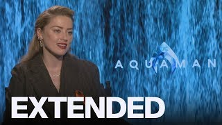 Amber Heard Shares Love For 'Unicorn' 'Aquaman' Cast | EXTENDED