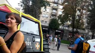 Выставка пожарной техники на Крещатике.Киев.2018.