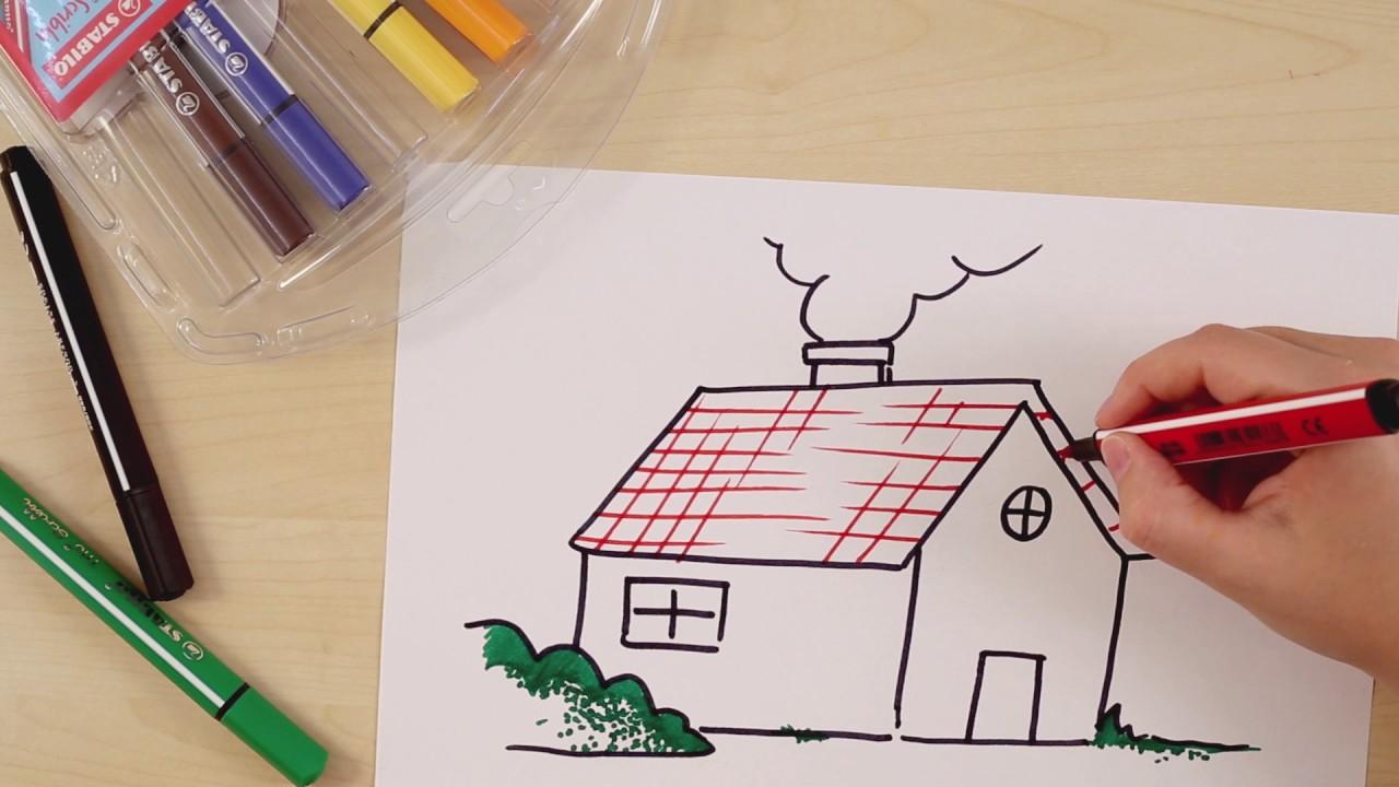 Invata Sa Desenezi O Casa Cu Stabilo Scribbi