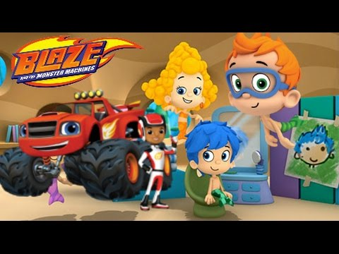Bubble Guppies Good Hair Day + BLAZE and THE MONSTER MACHINES Dragon Island Race (Nick Jr Games)