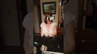 My mom Facing Her Fear on the Samsung Gear VR