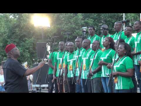 World Choir games 2014. Riga. Esplanade. Lagos City Chorale, Nigeria (14.07.2014 no 20.00)