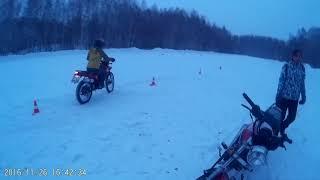 Обучение вождению 26.11.2016 г по снегу