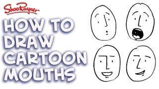 How to draw cartoon mouths