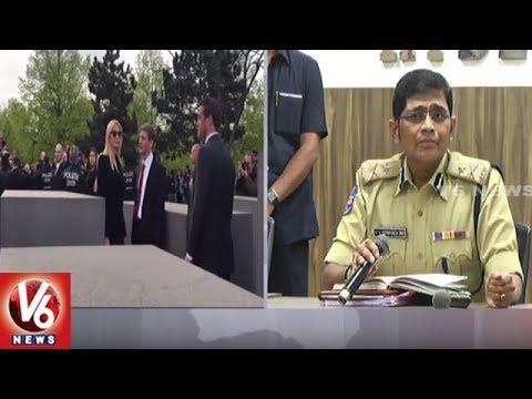 Hyderabad CP Srinivasa Rao Press Meet On Ivanka Trump's Security | GES 2017 | V6 News