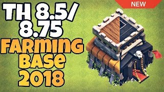 New TH 8.5/8.75 Hybrid/Farming Base 2018 | TH9 Farming Base (Without X-Bows) | Clash of Clans