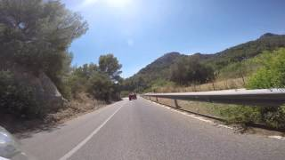 Mallorca across Serra de Tramuntana mountains