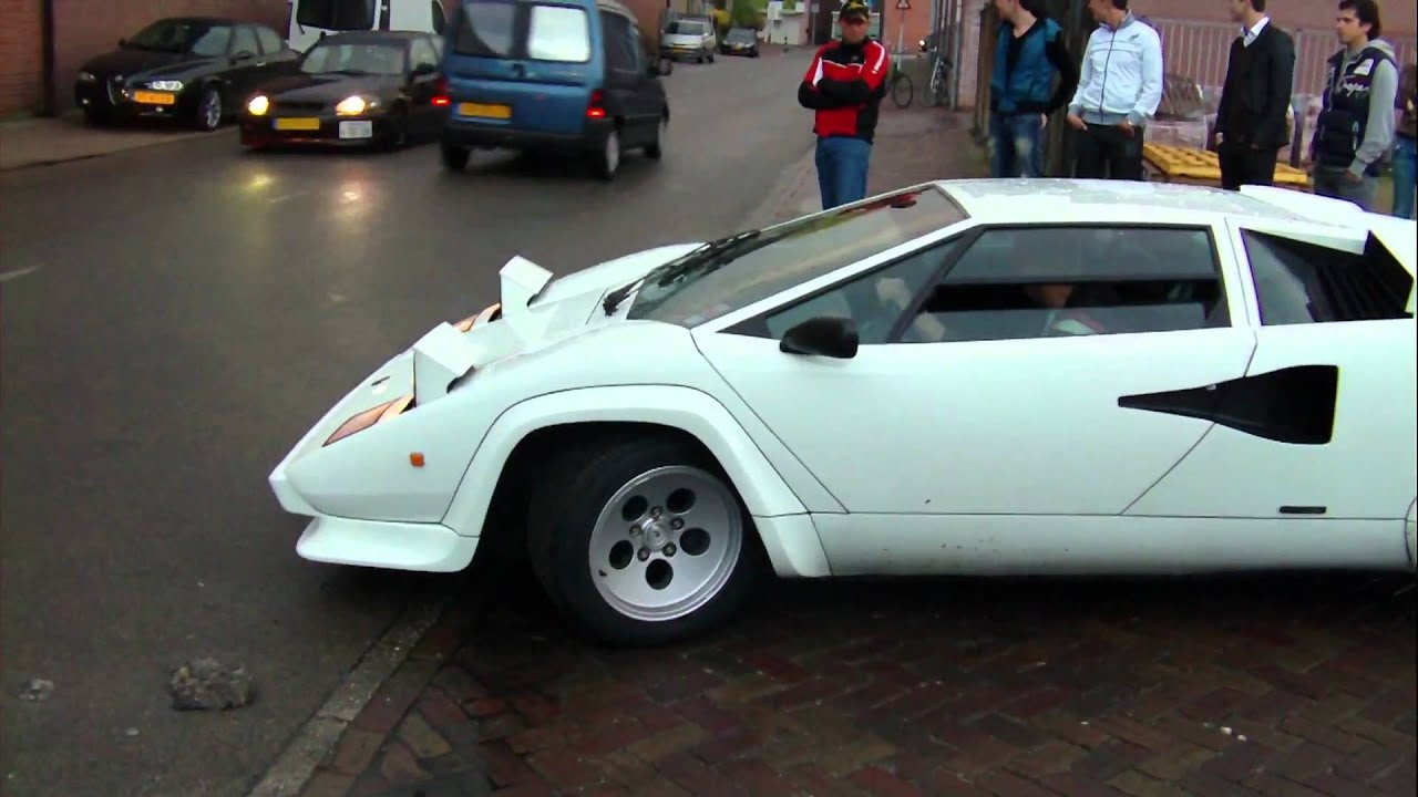 Lamborghini Countach Lp500 S Backfire Amp Acceleration 1080p Hd Youtube