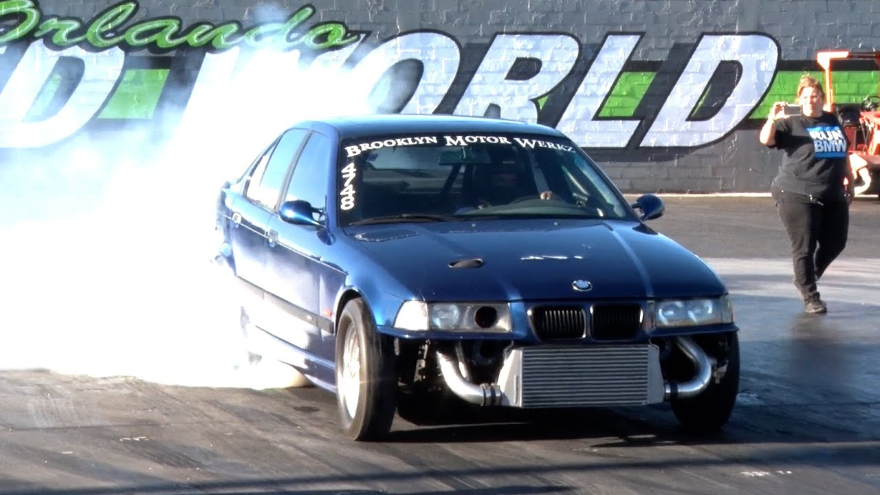 BIG Turbo 9 Second BMW Drag Car! - YouTube