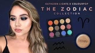 KATHLEENLIGHTS X COLOURPOP: THE ZODIAC COLLECTION | FIRST IMPRESSIONS | Makeupbytreenz