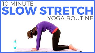 10 minute Simple Slow Stretch Yoga (all levels!) | SarahBethYoga