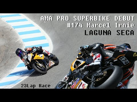Laguna Seca - AMA Pro Superbike Race 2014 On-Board (BMW S1000RR) 11.5
