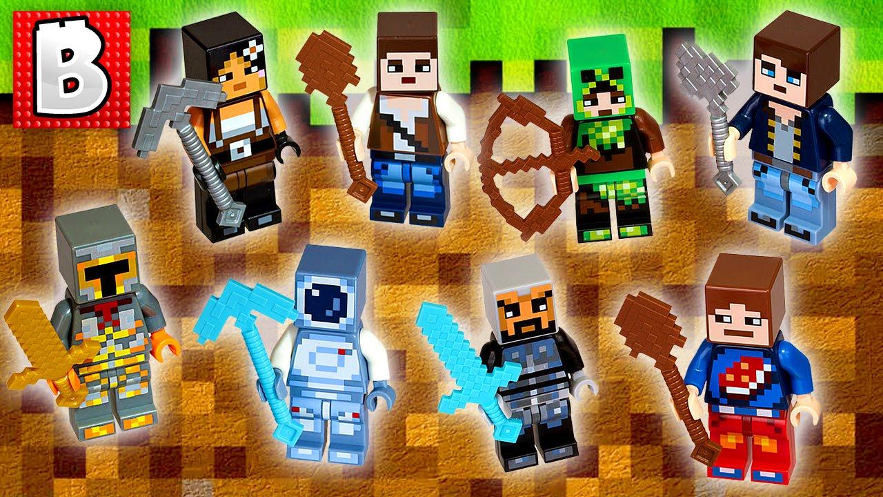Lego Minecraft Minifigures New Skins Official Images Revealed!!! + New  Seasonal Sets  Lego News