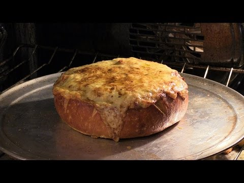 Crab Meat & Artichoke Dip in a Bread Bowl