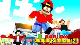 ROBLOX - THE JUMPING SIMULATOR, REACHING THE TALLEST BUILDING IN ROBLOX!!
