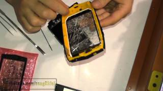 texet TM 4104R X Driver восстановление герметичности корпуса и замена сенсора, дисплея