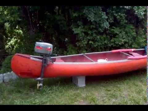 Fishing Canoe With Motor Youtube