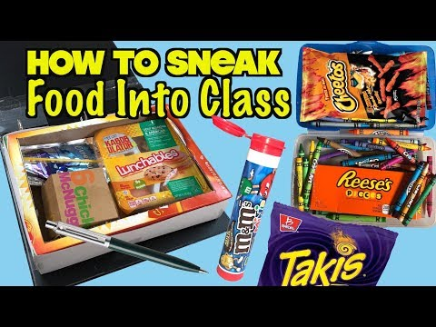 5 Genius Ways To Sneak Food Into Class Without Getting Caught: PART 23 - SCHOOL HACKS | Nextraker