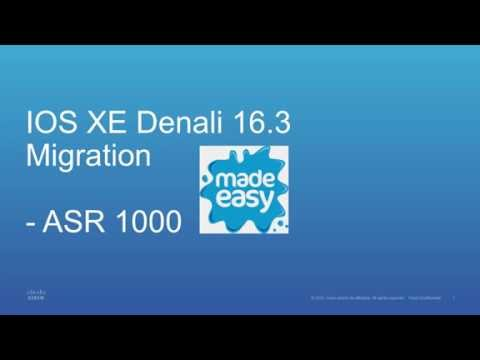 IOS XE 3 x to 16 3 Migration made easy on ASR 1000 - YouTube