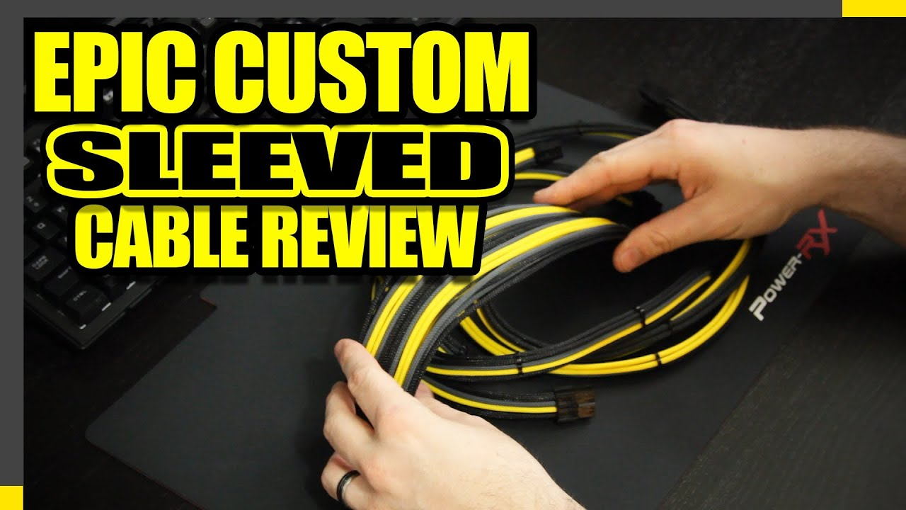 Custom Sleeve Pc Cables Lutro0 Customs Review And Demo