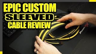 Custom Sleeve PC Cables - Lutro0 Customs Review and Demo