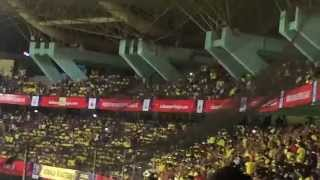 Huge fan support for KERALA BLASTERS Kochi Jawaharlal Nehru stadium
