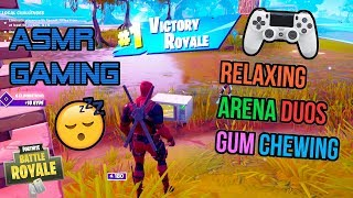 ASMR Gaming 😴 Fortnite Relaxing Arena Duos Gum Chewing 🎧🎮 Controller Sounds + Whispering 💤