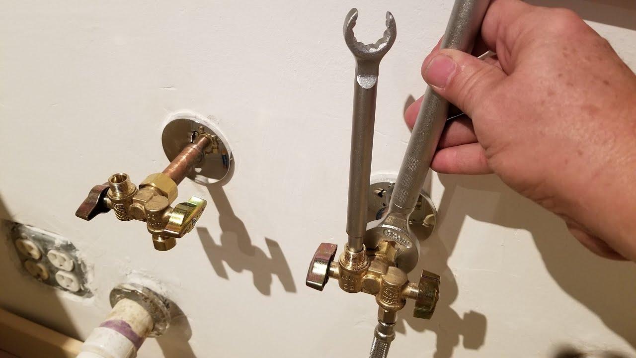 how to install water shutoff valves in kitchen sink 1 4 turn valve
