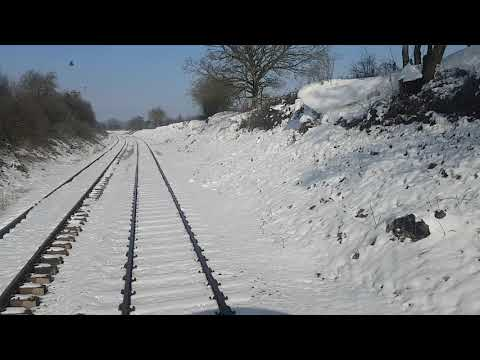 Through Hardingham and over Danemoor in the snow 4 March 2018