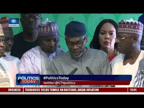 Political Round Up Buhari meets VP osinbajo, APC Governors Politics Today