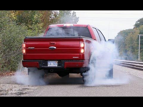Ford F-150 FX4 5.0L Coyote V8 Burnout Brakestand...