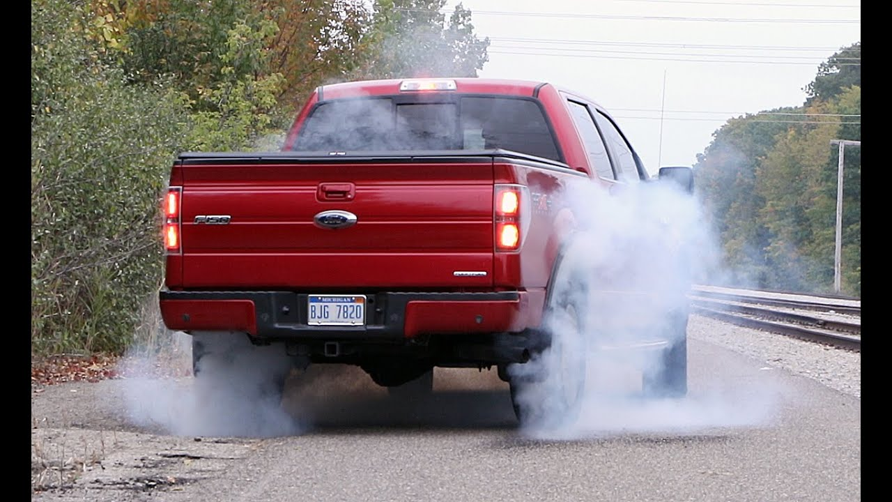 5.0 Coyote F150 >> Ford F-150 FX4 5.0L Coyote V8 Burnout Brakestand... - YouTube