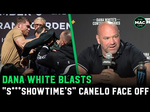 Dana white comments on Yoel Romero's fight, and blasts Showtime for Canelo vs Plant face off.