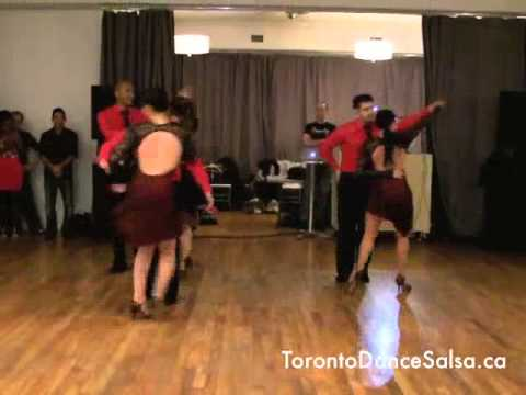 "Toronto Dance Salsa - Debut Bachata Performance of Pro/Am Team ""Caliente"""